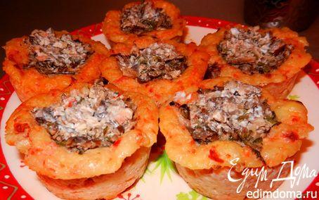 Рецепт Закусочные корзиночки с грибами