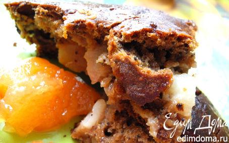 Рецепт Грушевый пирог с шоколадом и миндалем