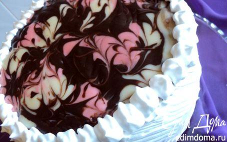 Рецепт Торт малиново-шоколадный «Фентази»