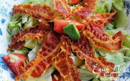 Рецепт Салат из авокадо и бекона