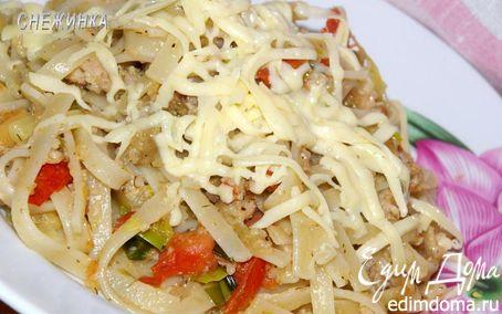 Рецепт Лапша с мясным соусом «по-домашнему»