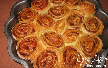 """Рецепт Пирог """"Розочки с яблоками и корицей"""" в хлебопечке"""
