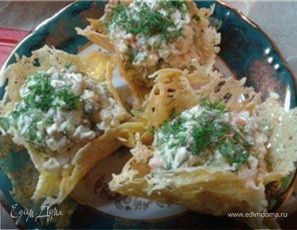 Съедобный сырный салатник