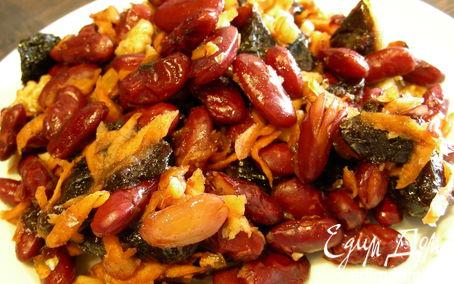 Рецепт Фасоль с морковью, черносливом и грецкими орехами