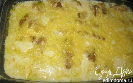 Рецепт Биточки с сыром под грибным соусом