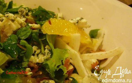 Рецепт Салат из фенхеля и голубого сыра