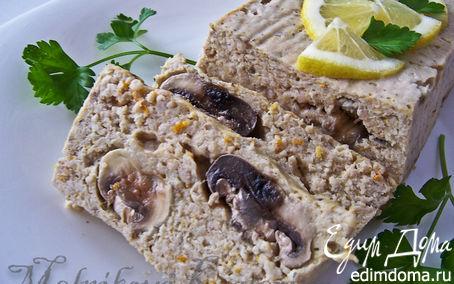 Рецепт Куриный паштет с грибами