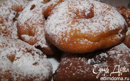 Рецепт Пончики с яблоками и коньяком!