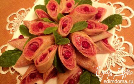 Рецепт Блинчики с ягодным суфле.