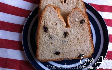 Рецепт Молочный хлеб с изюмом в хлебопечке