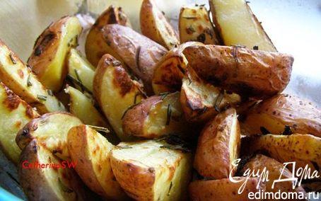 Рецепт Ароматный картофель, запеченный с розмарином и чесноком