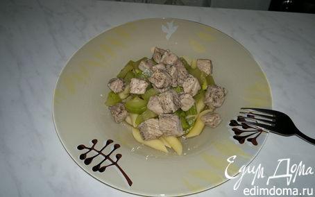 Рецепт Паста со свининой и кабачком в травах