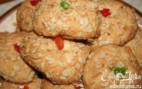 Рецепт Овсяное печенье с цукатами