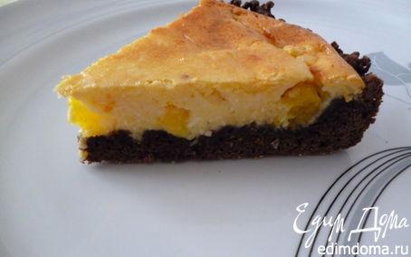Рецепт Пирог с творожно-апельсиновым пудингом