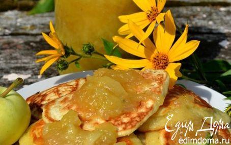 Рецепт Оладушки с яблочным вареньем