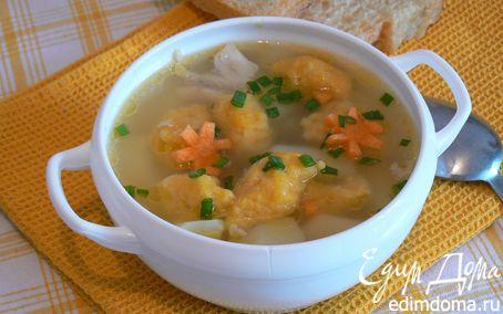 Рецепт Куриный суп с тыквенными клецками