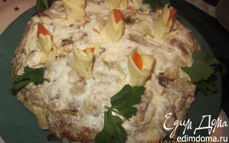 Рецепт Рыбный торт со свечками