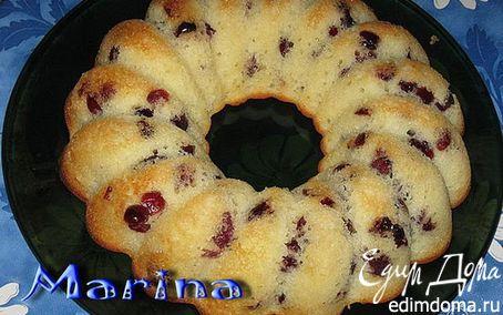 Рецепт Творожный кекс с вяленой клюквой