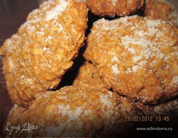 Печенье овсяно-манное на крепком чае.Постное.