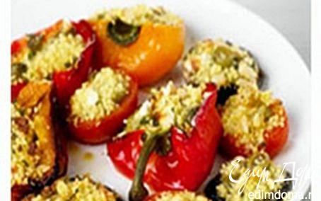 Рецепт Фаршированные перцы, помидоры и грибы