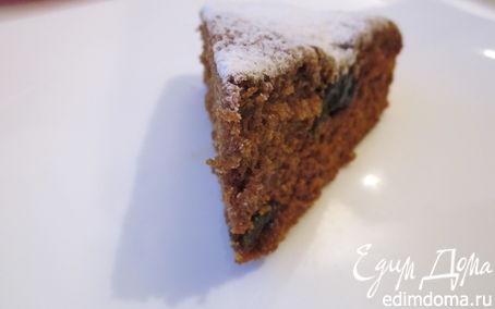 Рецепт Кофейный пирог с черносливом (постный)