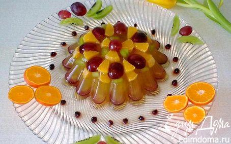 Рецепт Апельсиновое желе с ягодами и фруктами