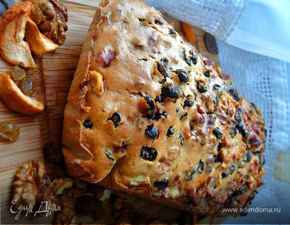 Кекс на яблочной сушке (Постный)