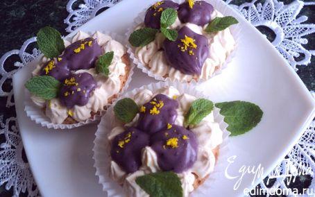 Рецепт Пирожное «Фиалки»