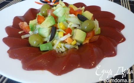 Рецепт Лёгкий салат в кольце