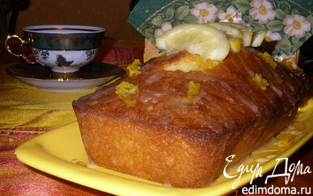 Рецепт Кекс с лимонной глазурью