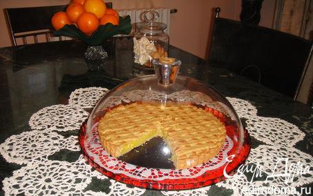 Рецепт Нежный песочный тарт с лимонным кремом (Crostata con la crema limone)