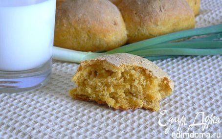 Рецепт Тыквенный хлебушек с овсяными хлопьями в хлебопечке