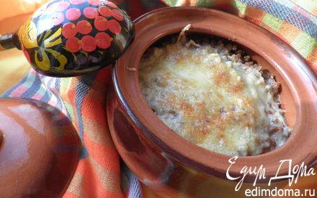 Рецепт Каша гречневая, запечённая с грибами
