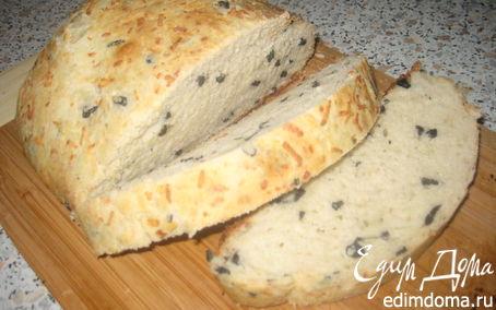 Рецепт Хлеб с маслинами, сыром и чесноком