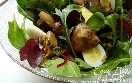 Рецепт Теплый грибной салат