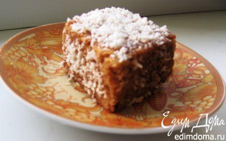 Рецепт Австралийские «Лемингтоны» с «Victoria Sponge cake»