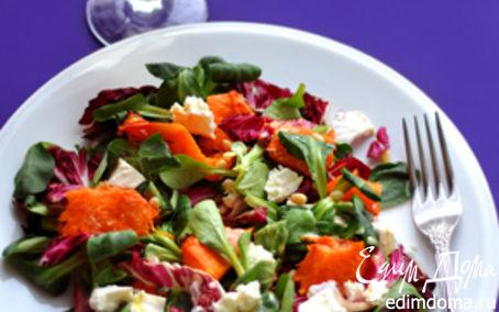 Рецепт Теплый салат с тыквой