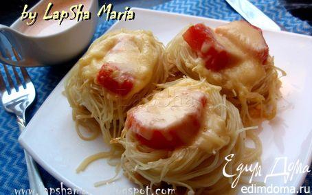 Рецепт Гнезда из спагетти с куриным филе