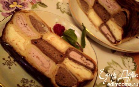 Рецепт Блинный пирог с творожной начинкой