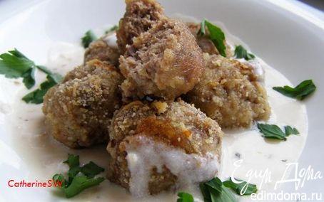 Рецепт Фрикадельки из индейки со сметанно-ореховым соусом