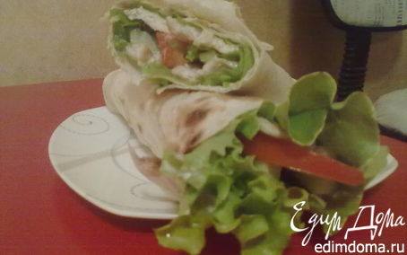 Рецепт Салат в лаваше