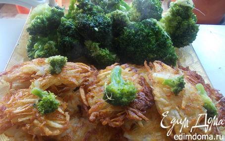Рецепт Капустка брокколи с картофельными лепешками