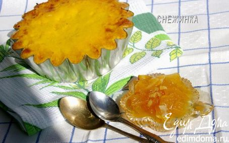 Рецепт Творожно-манная запеканка с апельсином