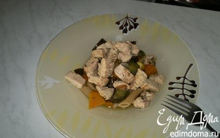 Рецепт Паста с баклажаном, тыквой и индейкой