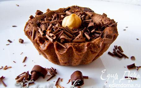 Рецепт Шоколадные тарталетки с кофейно-шоколадным кремом