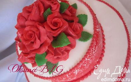 """Рецепт Торт """"Красные розы"""""""