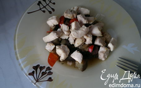 Рецепт Восточные овощное рагу и мясо птицы в восточных специях