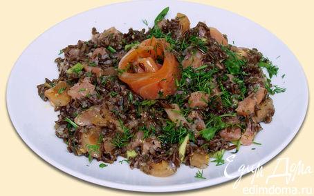 Рецепт Салат из красного риса с форелью