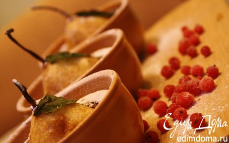 Рецепт Шоколадные кексы с грушами и сливочным сыром