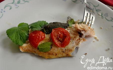 Рецепт Форель с помидорами и базиликом